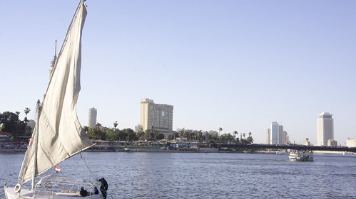 A Nile boat in Egypt's Nile river a | by Kodak Agfa