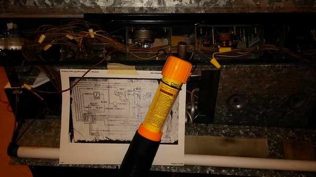 Control panel wiring.