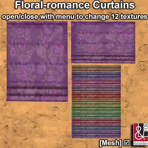 Floral Romance Curtains open-close