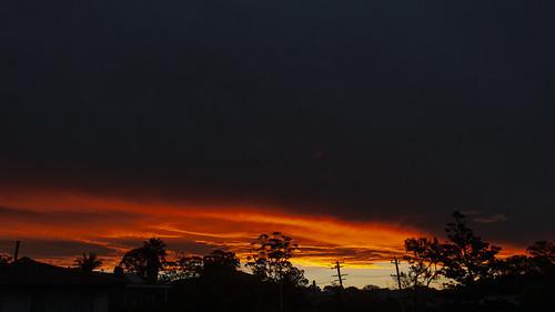sky sunset merimbula clouds cloudsstormssunsetssunrises cloudy weather