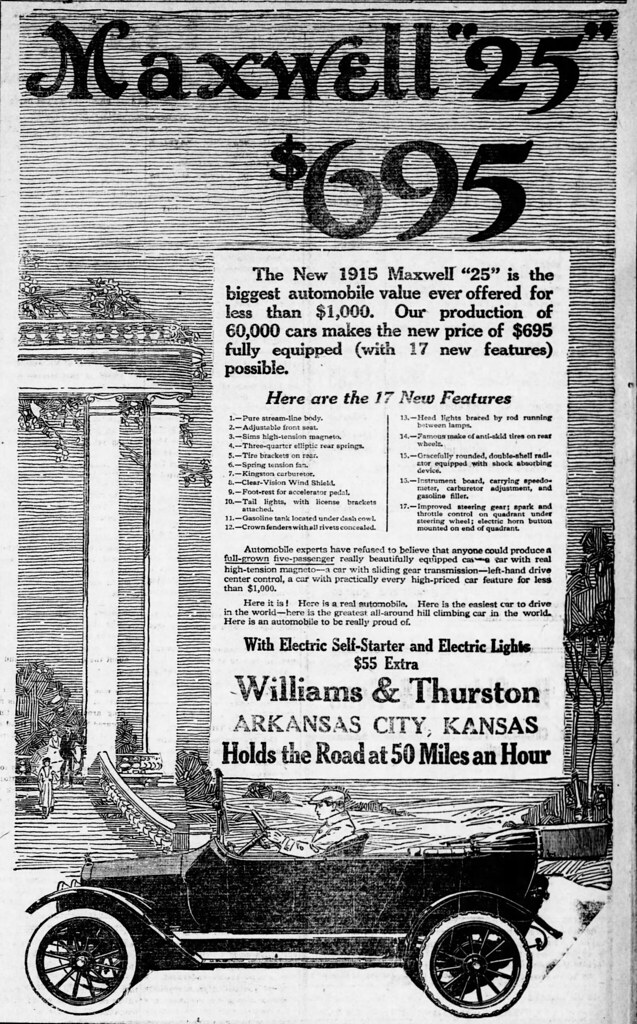 1915 advertisement for the Maxwell 25 car | From the 1 Janua… | Flickr