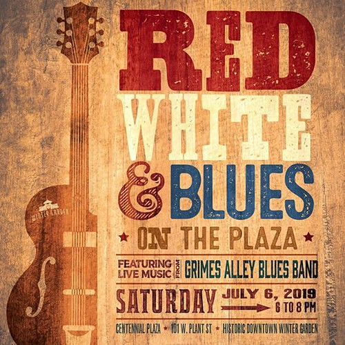 Red, White & Blues on the Plaza in Winter Garden