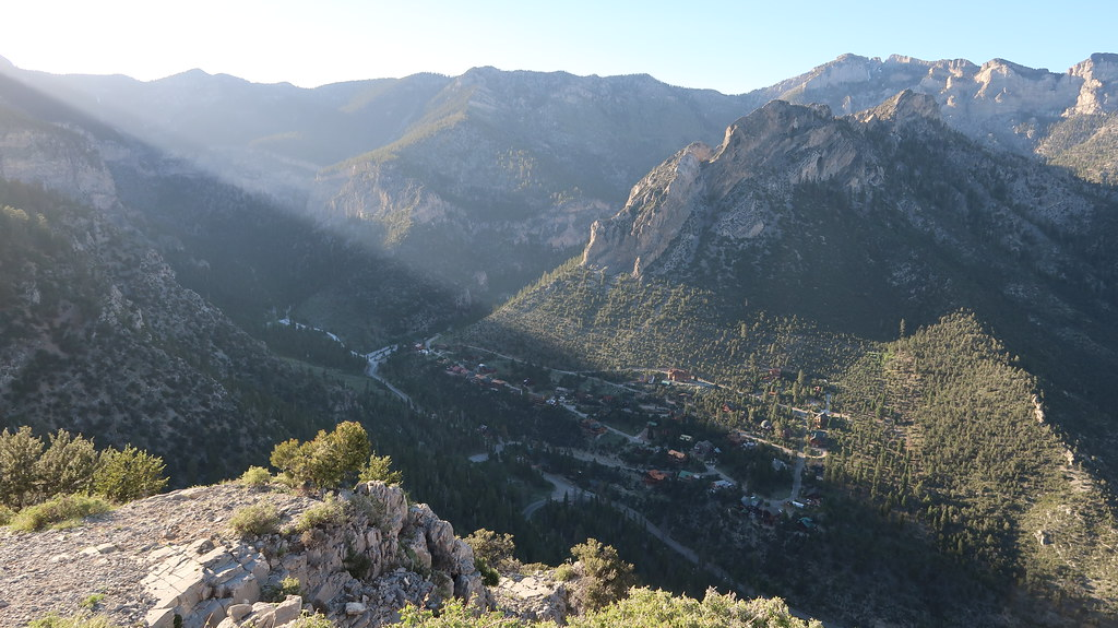 From the summit of Cathedral Rock, Mount Charleston
