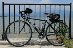 Trek 520 touring bike at Biwako