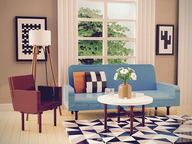 1950s Living Room