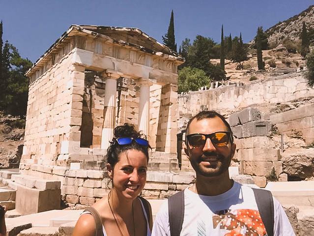 · Tesoro de los Atenienses · Oráculo de Delfos · Grecia · Click_Trip ·