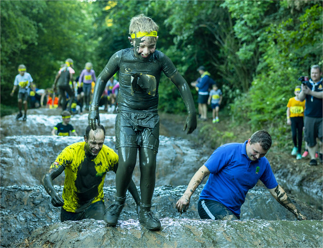 Junior Total Warrior Event Braham Park Yorkshire  Whoops Mum Sorry clean on