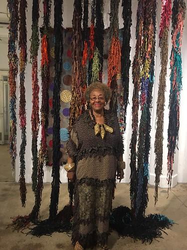 RosemaryOllisonwithLeatherSculpture