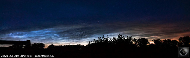 Noctilucent Cloud Panorama from Oxfordshire 21/06/19