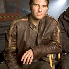 Tom Cruise Biker Real Leather Jacket
