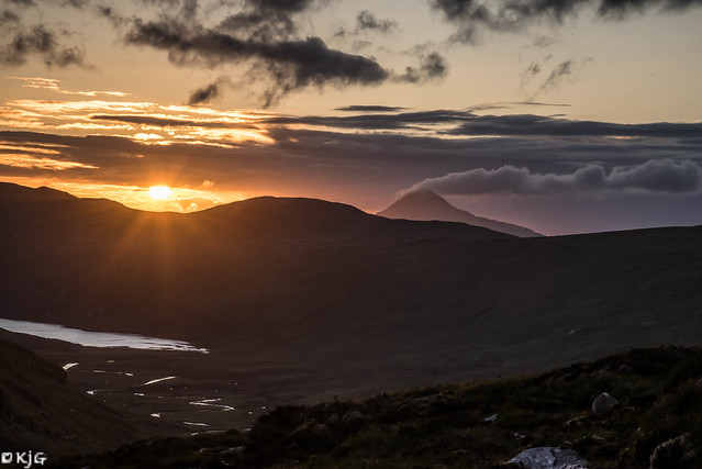 Solstice Sunset over Ben Stack
