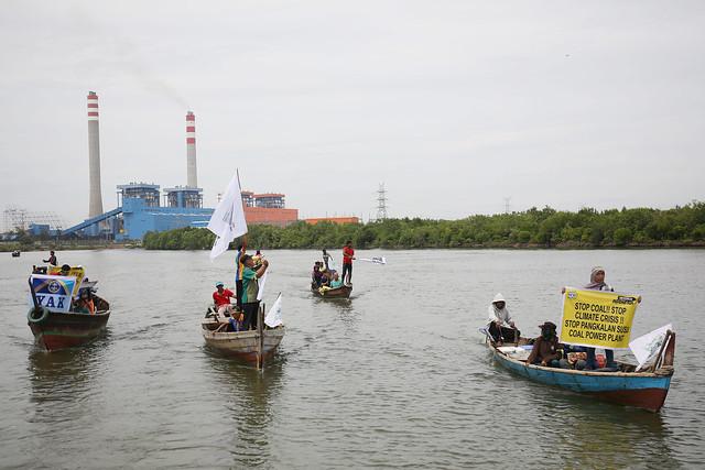 Anti-Coal Power Plant Action in Pangkalan Susu, Lahat, North Sumatera
