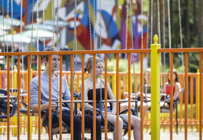 Tykkimäen huvipuisto Kouvola Tykkimäki laitteet Star Fyer keinu maisemakeinu
