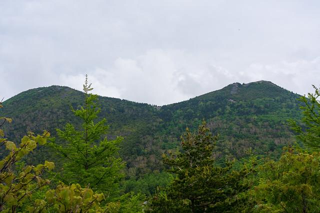 東と西の篭ノ登山
