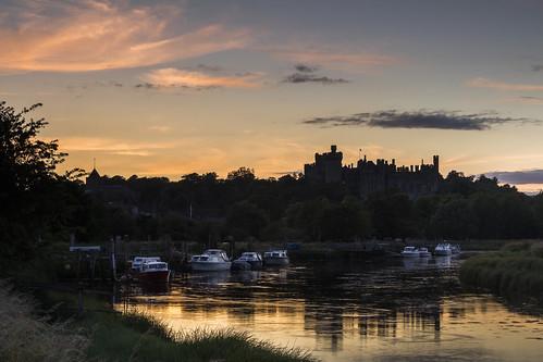 arundel castle riverarun sussex england uk boat sunset reflection canon 80d sigma 1750mm leefilters