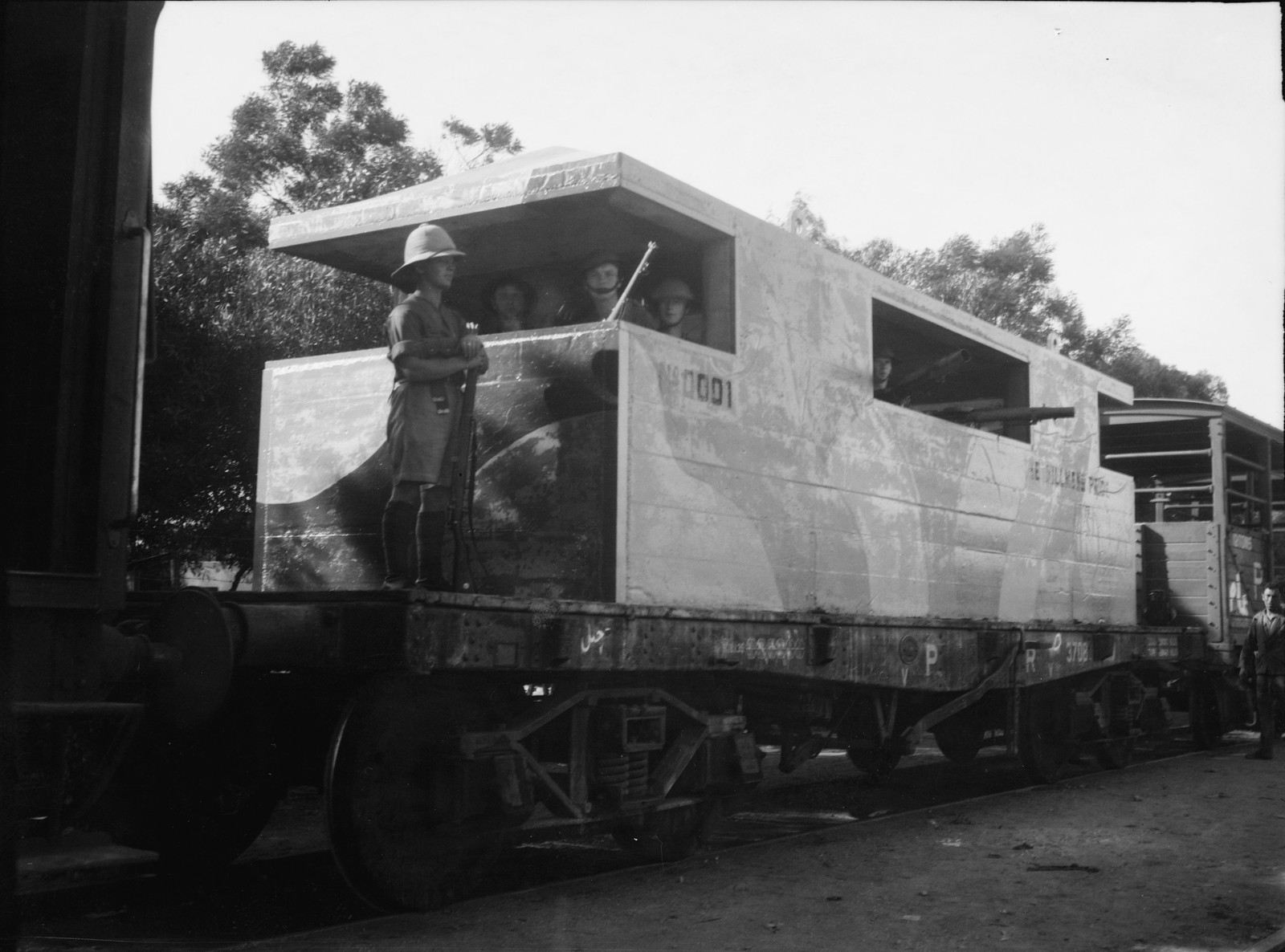07. Броневагон  на Иерусалимской железной дороге