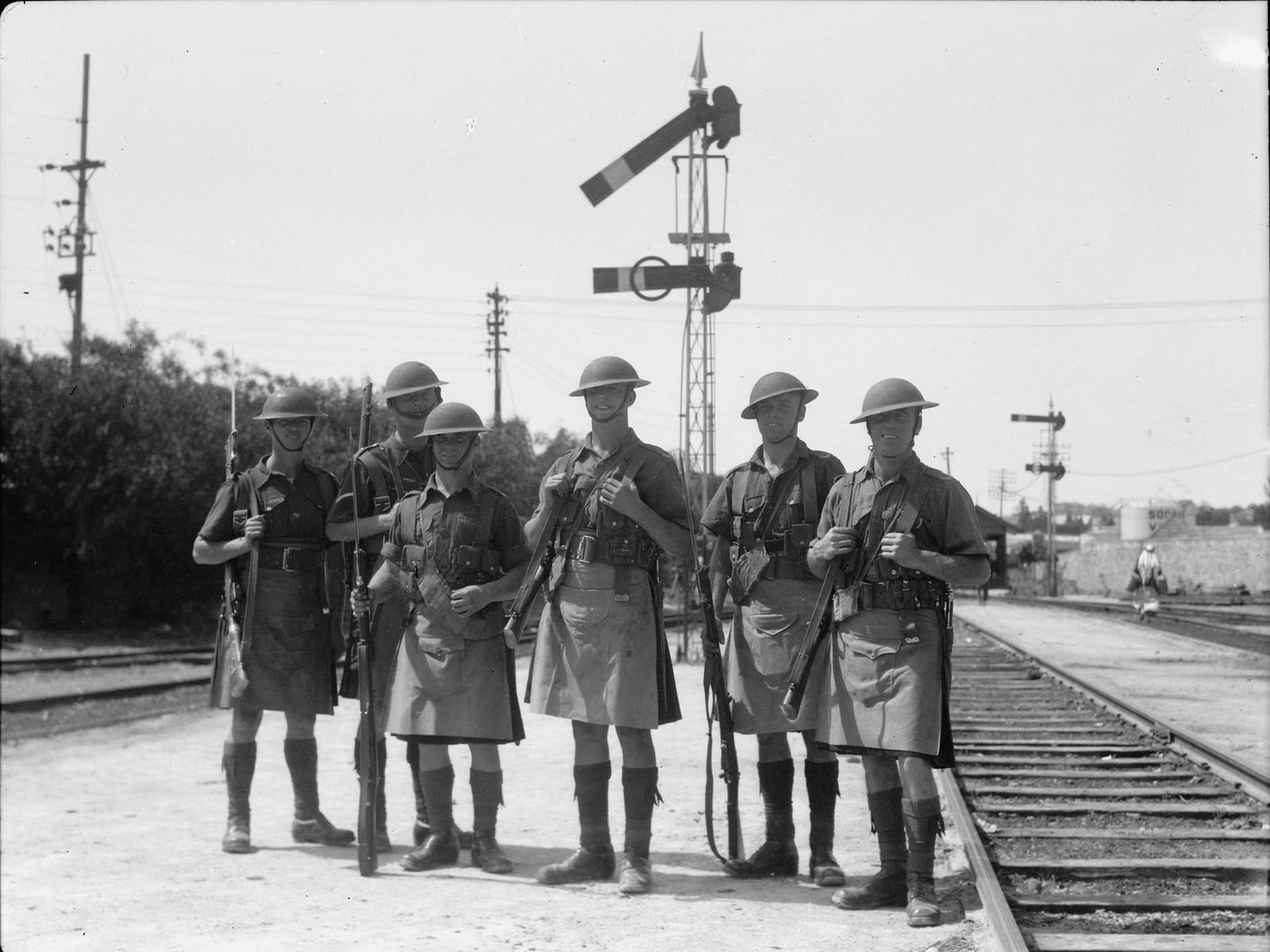 05. Железная дорога Яффо-Иерусалим под охраной британских солдат