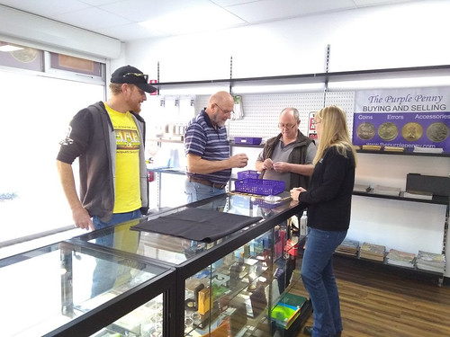 Purple Penny customers opening day