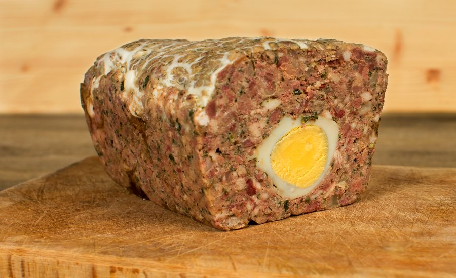 A very traditional Bucharest Food: Drob - Romanian Easter Meatloaf