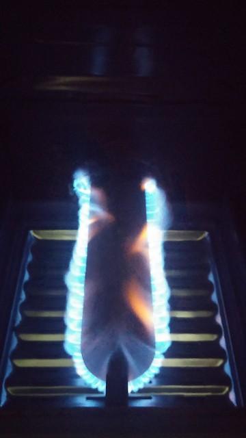 Oven burner.