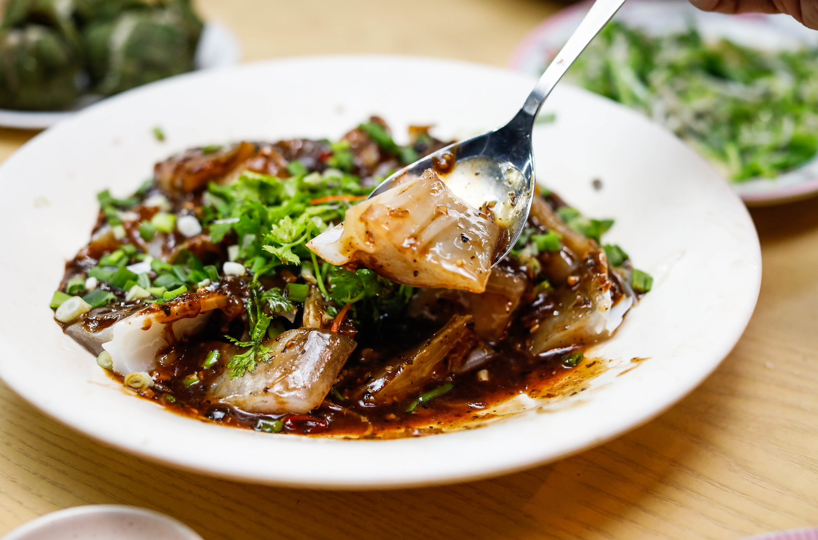 Plate of Shark's Head in Black Bean Sauce
