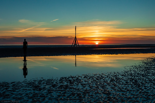 Sunset at Crosby Beach | by travellingred
