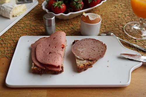 Lyoner und Schnittfeste Leberwurst (vom Bentheimer Landschwein) auf Mayanna-Brot