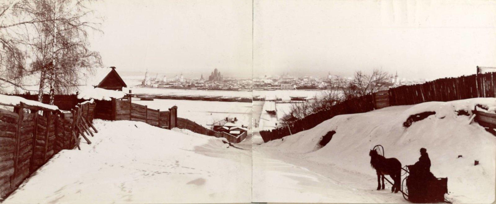 Иркутск. Панорама города из Глазковского предместья
