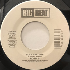 ROBIN S.:LOVE TO LOVE(LABEL SIDE-A)