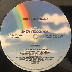 CORNEL ABRAMS:TRAPPED(LABEL SIDE-A)