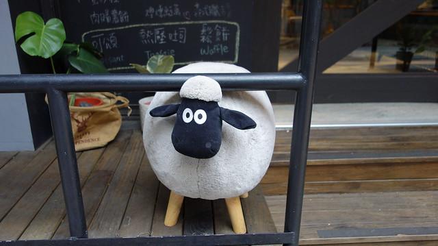 可愛的羊@永和美的咖啡
