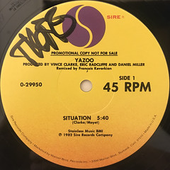 YAZOO:SITUATION(LABEL SIDE-A)