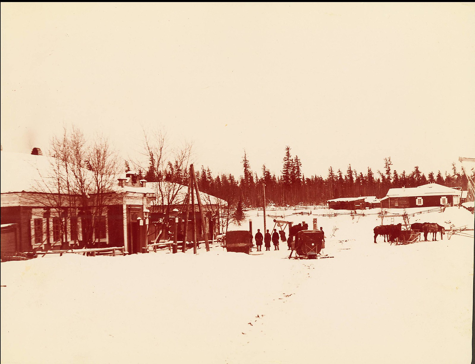 Почтовая станция под Иркутском