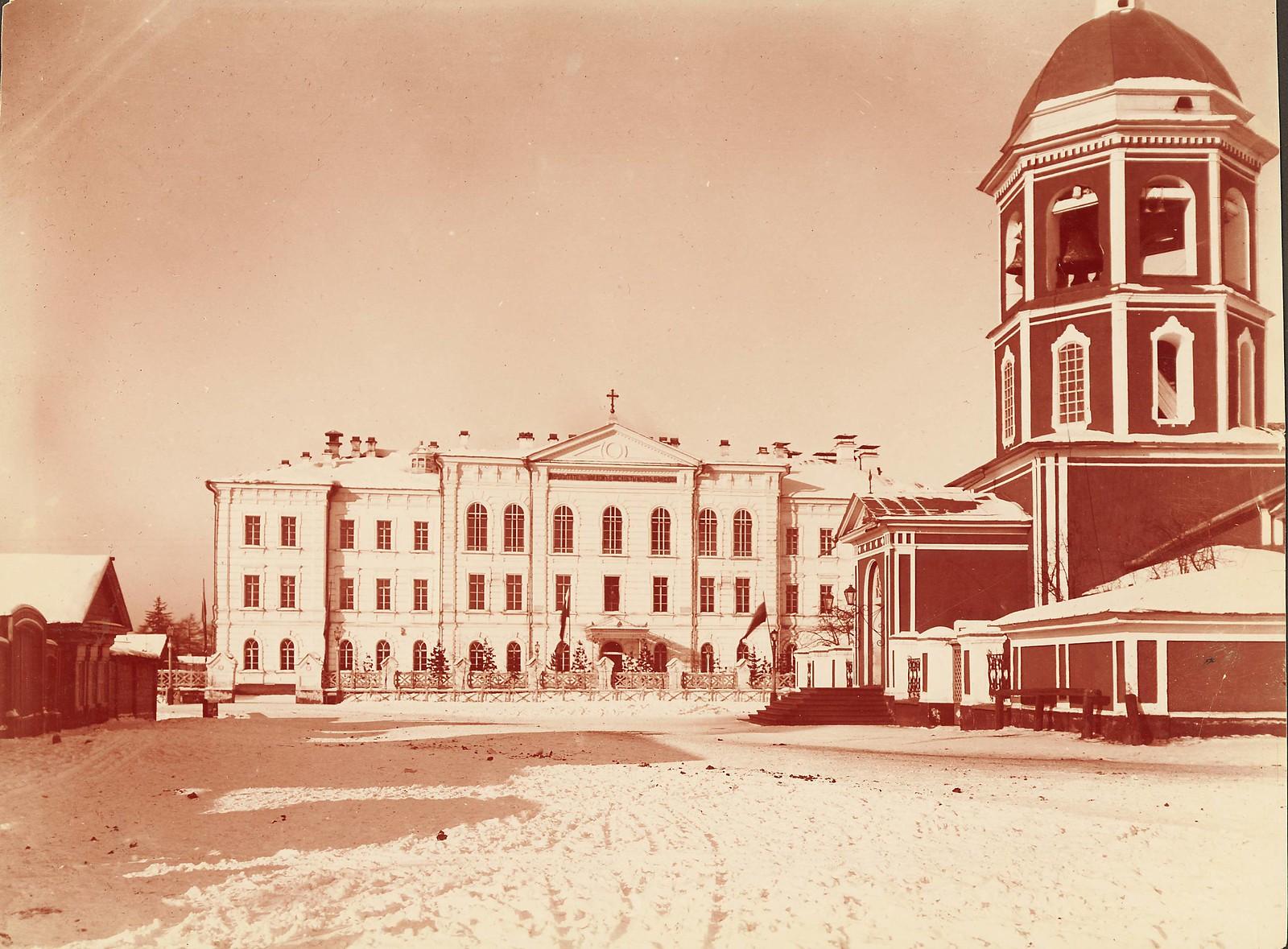 Иркутск. Церковь Спаса Преображения и Сиропитательный дом Елизаветы Медведниковой