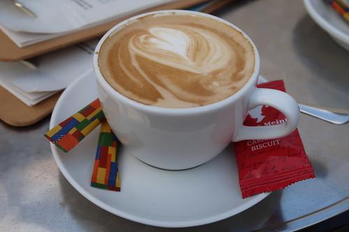 Cappuccino italiano im Eiscafé Ferreira in Borgholzhausen
