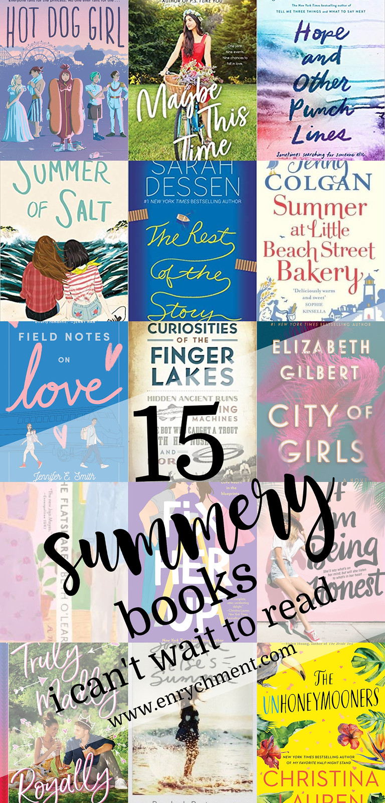 15 Summery Books I Can't Wait to Read! | www.enrychment.com