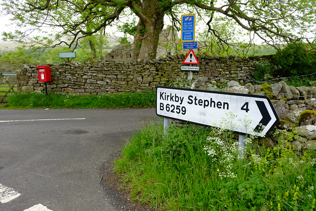 Cumbria-  The B6259 goes along the upper Eden Valley.