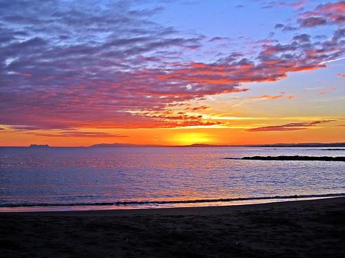 sunset españa sol atardecer mar spain andalucia cielo costadelsol puestadesol playas mediterráneo málaga marbella