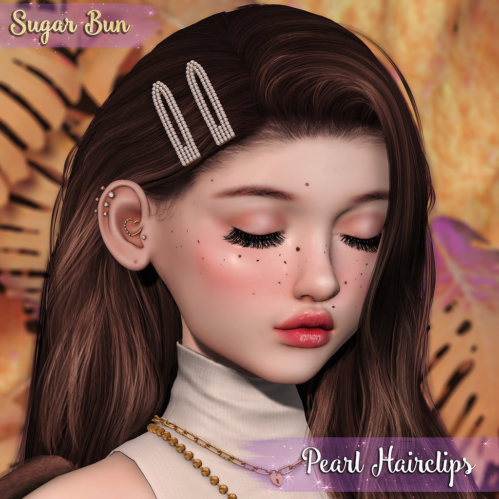 .SugarBun. Pearl Hairclips @Flora