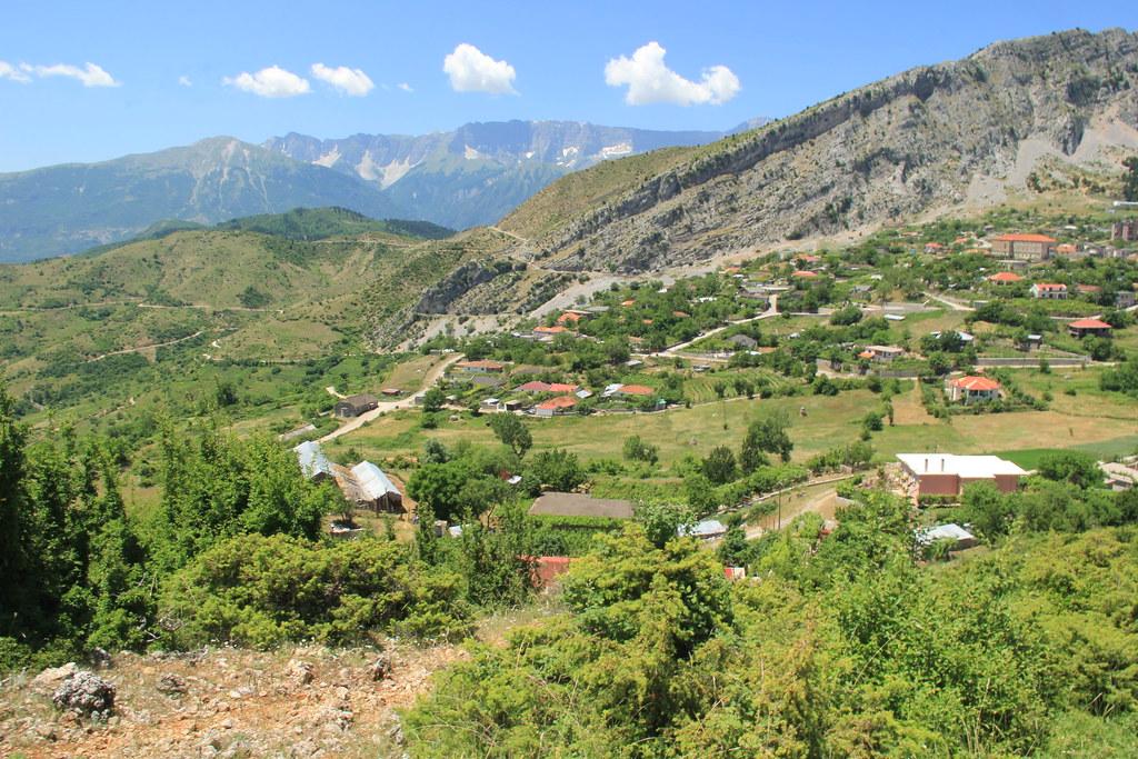 Mountain landscapes between Përmet and Korça, Albania