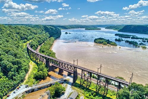safe harbor park dam susquehanna river aerial drone photos view bridge lancaster county
