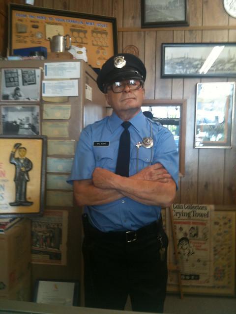Coin shop security guard