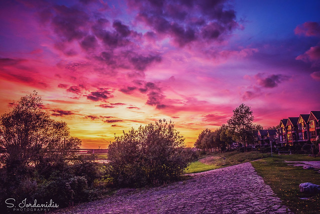 Colorful Sunset, Rees-Germany