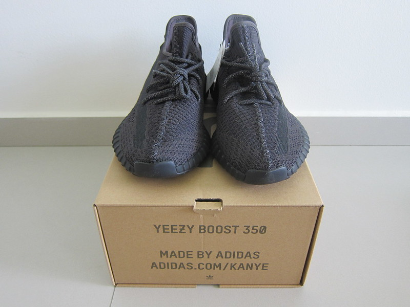 Yeezy Boost 350 v2 (Black) - With Box - Front