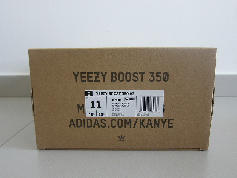 Yeezy Boost 350 v2 (Black) - Box Back