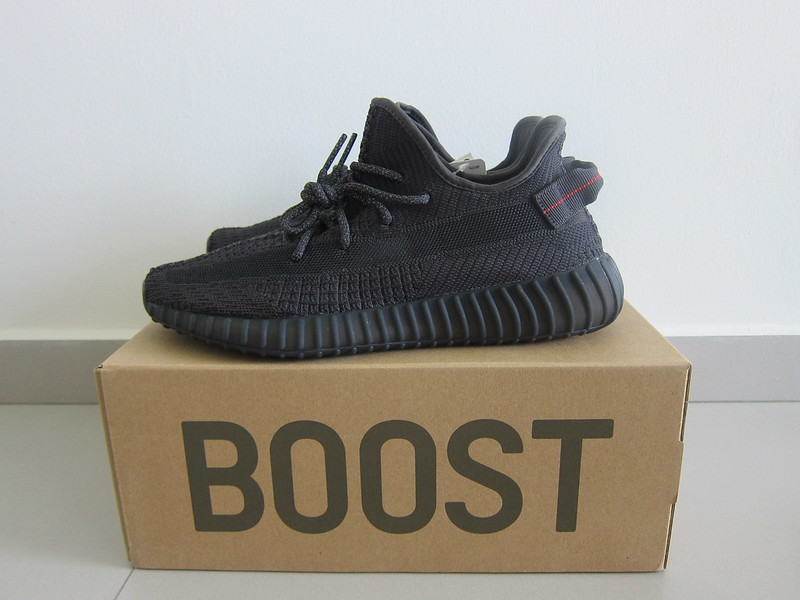 Yeezy Boost 350 v2 (Black) - With Box - Side