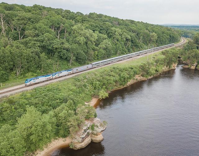 Amtrak AMTK 79 (P42DC) Westbound Empire Builder Wisconsin Dells, Wisconsin