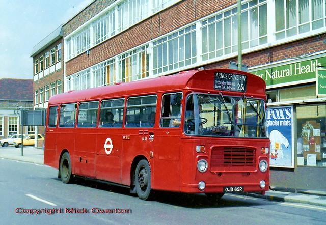1977 Bristol LH BL65 OJD65R route 251 a month after Aldenham overhaul