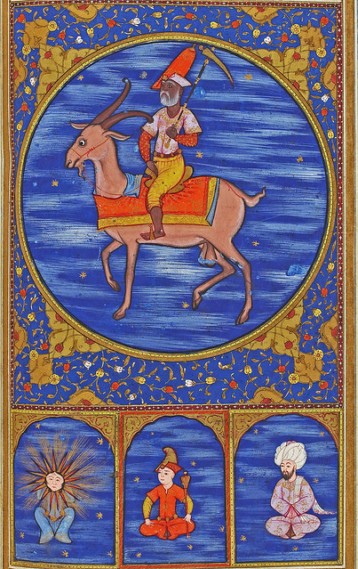 Zodiac sign of Capricorn from an Ottoman manuscript