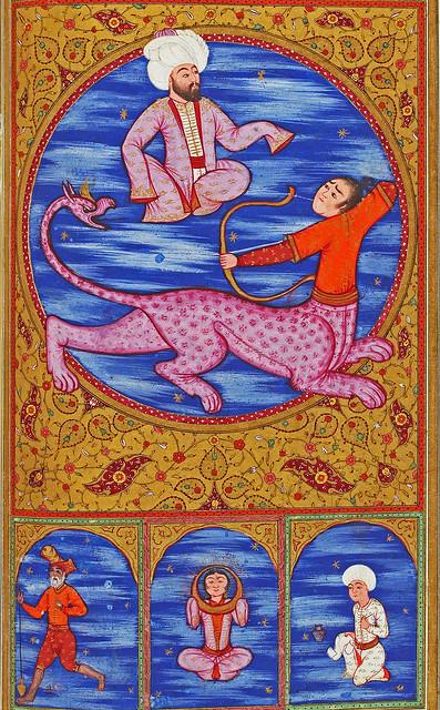 Zodiac sign of Sagittarius from an Ottoman manuscript